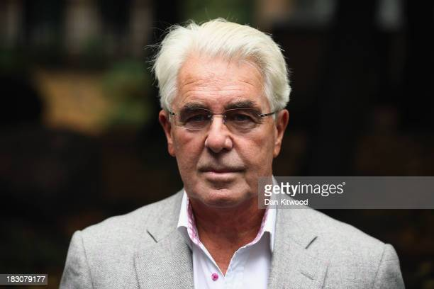 Publicist Max Clifford speaks to the press as he arrives at Southwark Crown court on October 4 2013 in London England Max Clifford is appearing at...