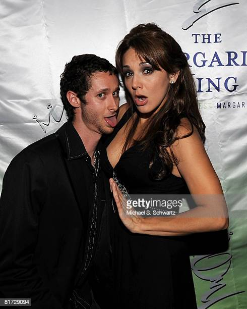 Publicist Michael Shane and Comedian JillMichele Melean attend JillMichele Melean's Birthday Bash at Holly's on June 25 2008 in Hollywood California