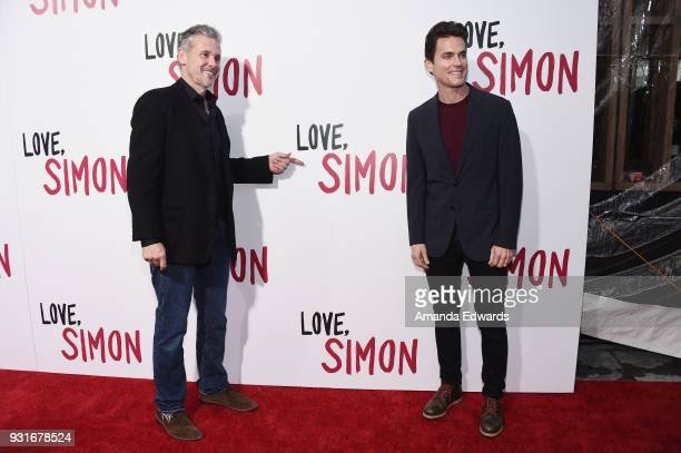 Publicist Simon Halls and actor Matt Bomer arrive at the 'Love Simon' special screening and performance at Westfield Century City on March 13 2018 in...
