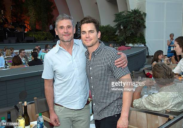 Publicist Simon Halls and actor Matt Bomer attend the Hollywood Bowl opening night at the Hollywood Bowl on June 18 2016 in Hollywood California