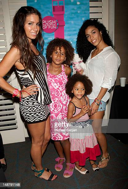 Publicist Tammy Brook Darly Murray Shayla Gibson and Norma Mitchell attend Swatch at KIIS FM TCA Gifting Suite on July 19 2012 in Los Angeles...
