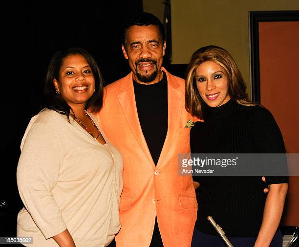 Publicist Tonya Carmouche pianist Bobby Lyle and singer Kaylene Peoples attend the Kaylene Peoples My Man CD recording session featuring pianist...