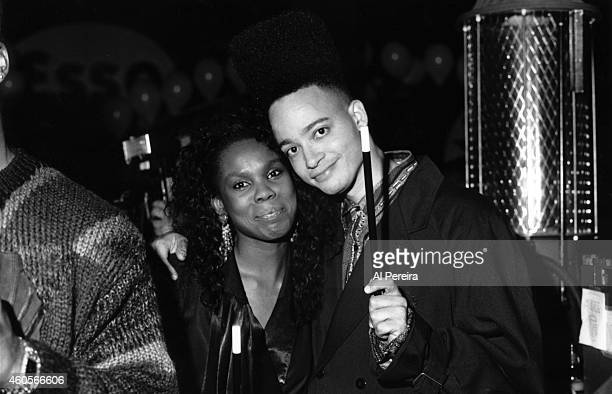 Publicist Yvette Noel Schure and rapper Christopher Kid Reid of the hiphop group Kid 'n Play attend an event in circa 1992 in New York New York