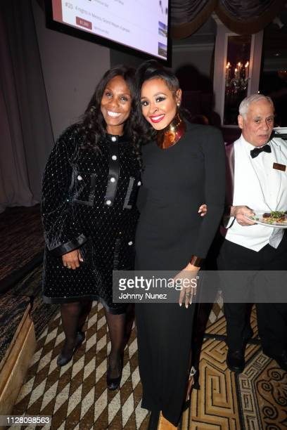 Publicist Yvette NoelSchure and media personality Janell Snowden attend the AFUWI 22nd Annual Legacy Awards Gala at The Pierre Hotel on February 27...