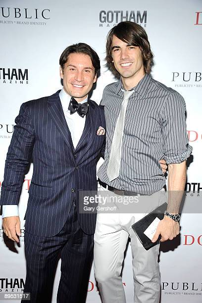 """Publicist/author Marco Larsen and publicist Nick Rad attend the """"DON'T"""" book launch hosted by PUBLIC nyc and Gotham Magazine at the Penthouse at..."""