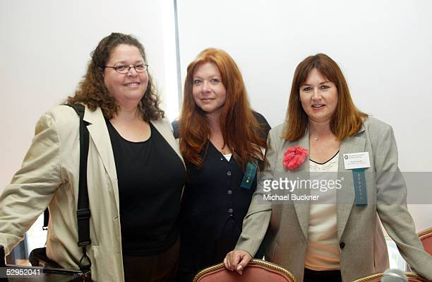Publicists Carol Marshall Julie Nathanson and Heidi Schaeffer attend a panel discussion on personal publicity by the Entertainment Publicists...