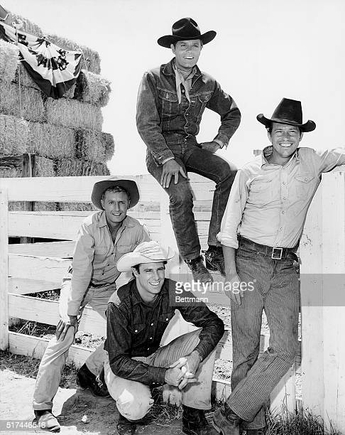 Publicity handout for the ABCTV show Stoney Burke a Western about a professional rodeo rider's driving ambition to claim the championship Golden...