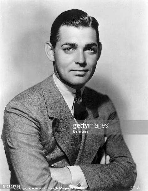 Publicity handout of a young Clark Gable, Metro-Goldwyn-Mayer actor. Undated.