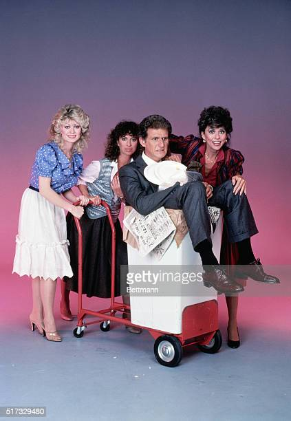 Publicity handout of the cast of the television situational comedy Nine to Five from left to right are Rachel Dennison who plays Doralee Rhodes...