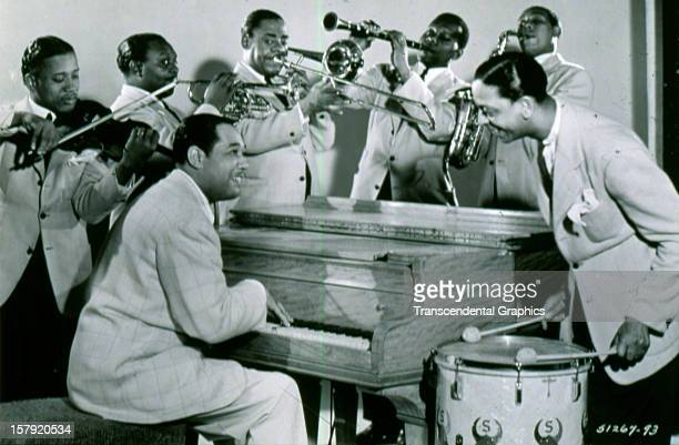 A publicity photo for Duke Ellington and his big band was issued circa 1930 in New York City