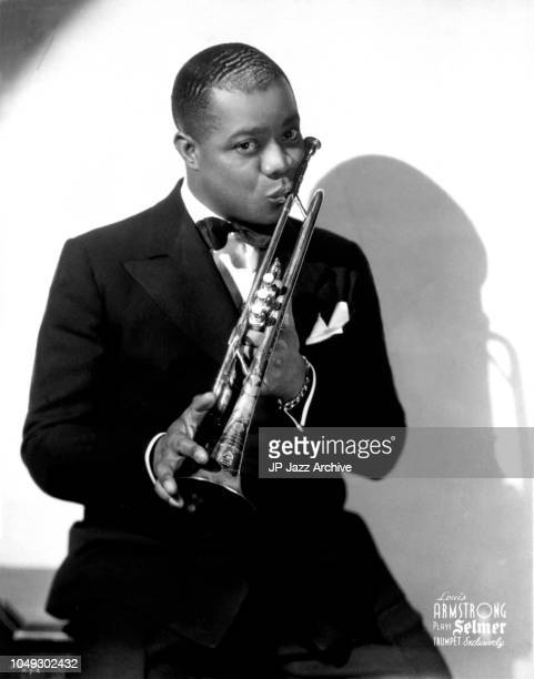 Publicity photo of American jazz trumpeter Louis Armstrong ca 1930