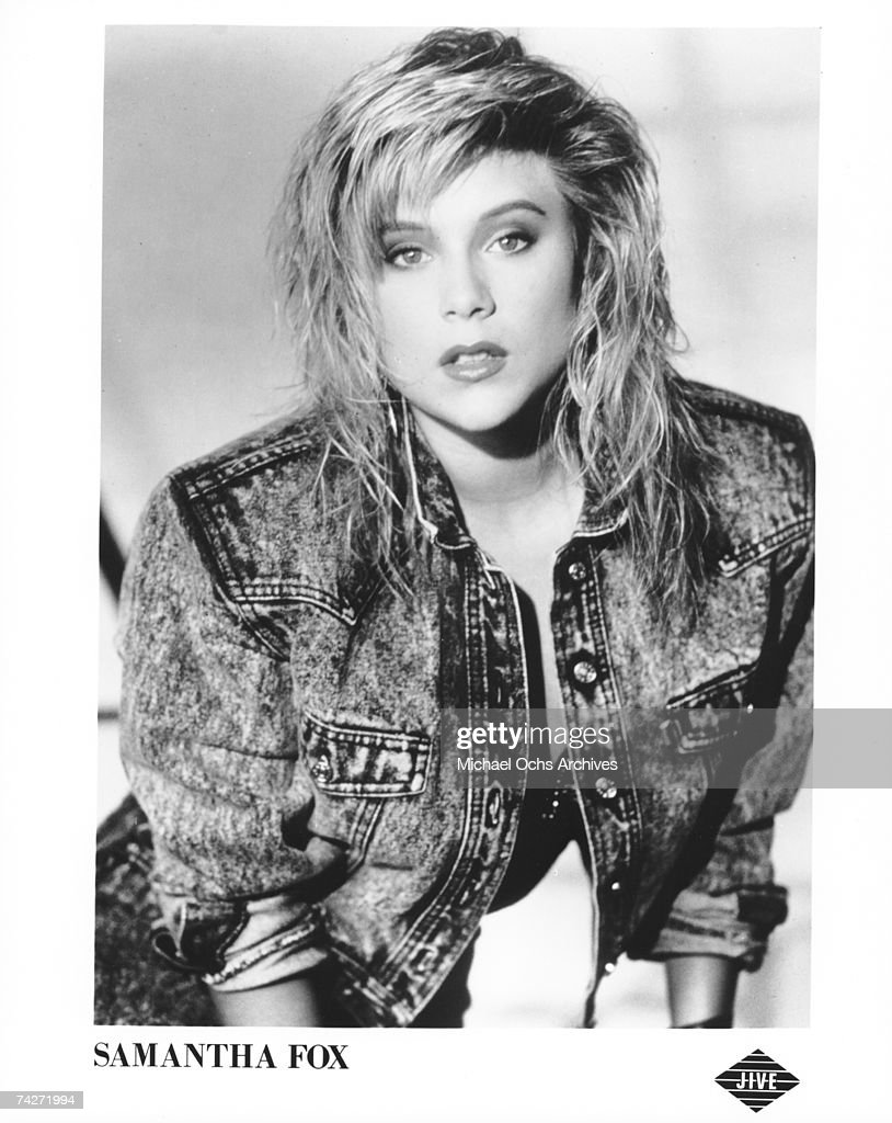 Publicity photo of Samantha Fox released by Jive Records