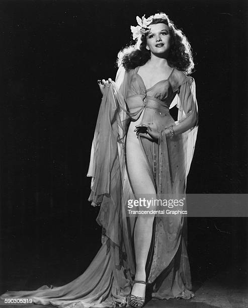 Publicity photograph of a fashion model in a negligee Chicago Illinois circa 1950