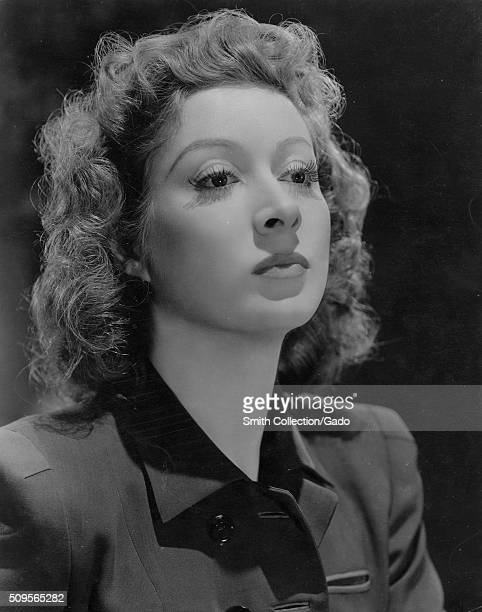 A publicity photograph of Greer Garson an actress from England who was a contract player for MetroGoldwynMayer nominated for seven Academy Awards she...