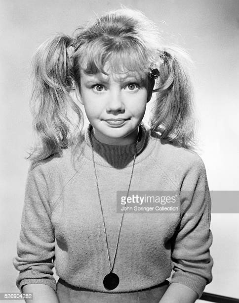 Publicity photograph of Hayley Mills with her hair in pigtails Copyright 1973 Universal Pictures Company Inc Permission granted for newspaper and...