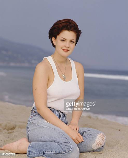 Publicity portrait of American actress Drew Barrymore for the CBS television drama '2000 Malibu Road'