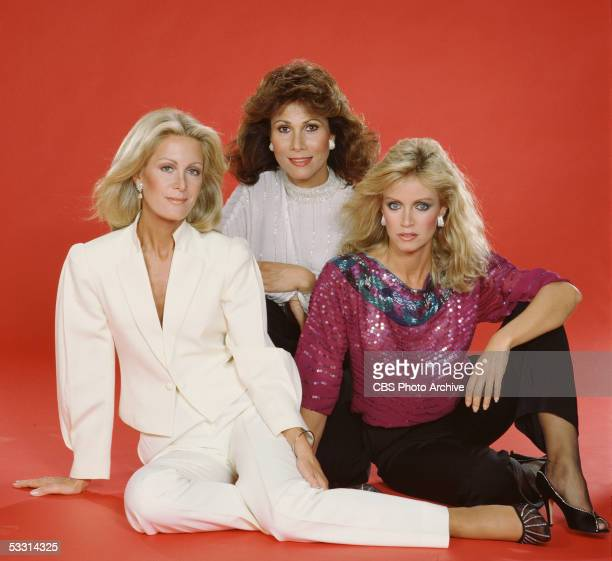Publicity portrait of American actresses Joan Van Ark Michele Lee and Donna Mills for the TV soap opera series 'Knots Landing' 1988