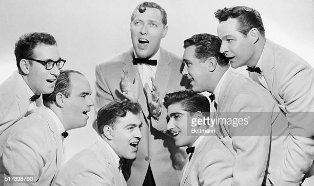 Publicity portrait of Bill Haley and the Comets 1956 Pictured are Rudy Pompelli Billy Williamson Al Rex John Grandi Ralph Jones and Francis Beecher