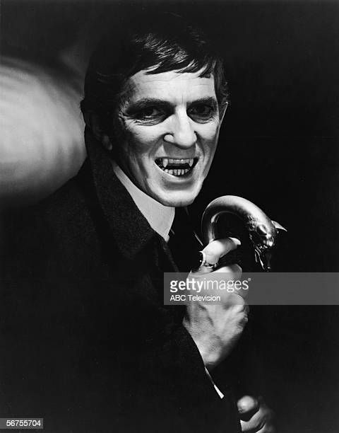 Publicity portrait of Canadian actor Jonathon Frid as the vampire character Barnabas Collins on the American television series 'Dark Shadows' late...