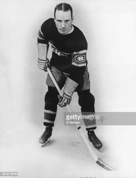 Publicity portrait of Canadian ice hockey player Aurel Joliat of the Montreal Canadiens 1920s or 1930s