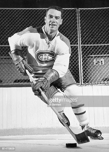 Publicity portrait of Canadian ice hockey player Bert Olmstead of the Montreal Canadiens 1950s
