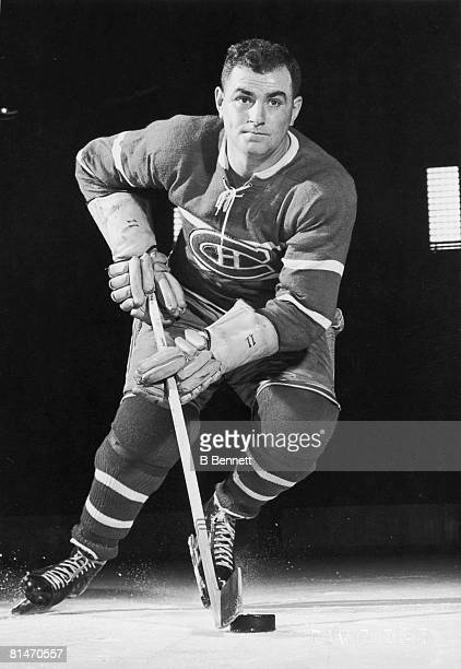 Publicity portrait of Canadian ice hockey player Calum MacKay of the Montreal Canadiens early 1950s