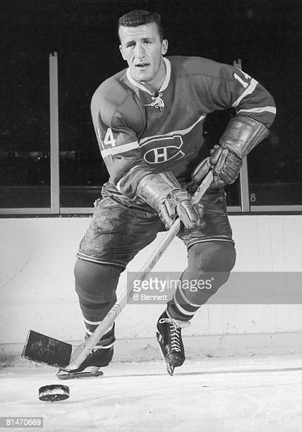 Publicity portrait of Canadian ice hockey player Claude Provost of the Montreal Canadiens late 1950s