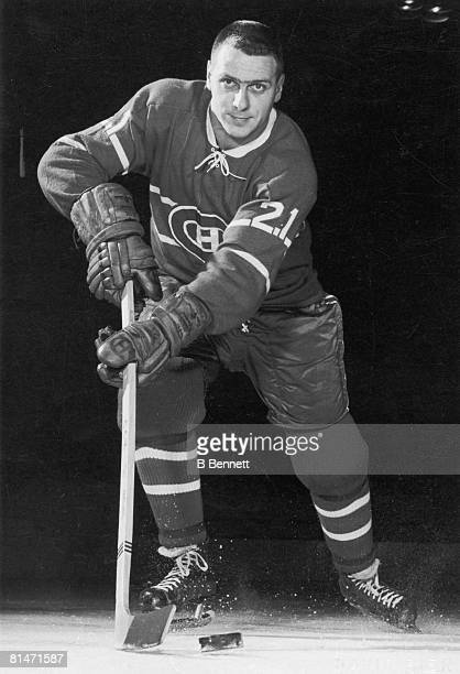 Publicity portrait of Canadian ice hockey player Gilles Tremblay of the Montreal Canadiens 1960s
