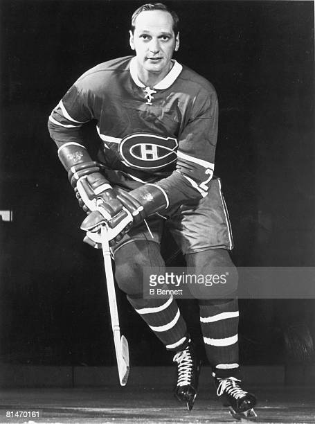 Publicity portrait of Canadian ice hockey player Jacques Laperriere of the Montreal Canadiens 1960s or 1970s