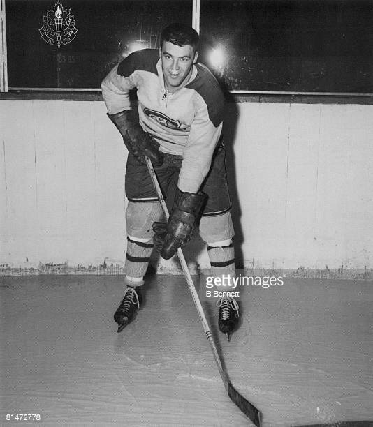 Publicity portrait of Canadian ice hockey player JeanGuy Talbot of the Montreal Canadiens 1950s or 1960s