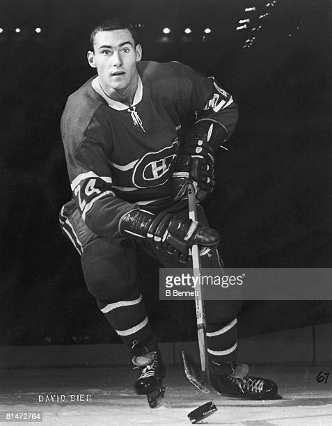 Publicity portrait of Canadian ice hockey player Mickey Redmond of the Montreal Canadiens late 1960s or early 1970s