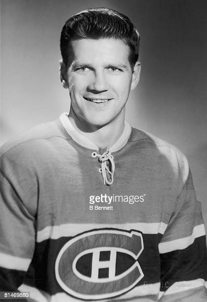 Publicity portrait of Canadian ice hockey player Phil Goyette of the Montreal Canadiens late 1950s or early 1960s