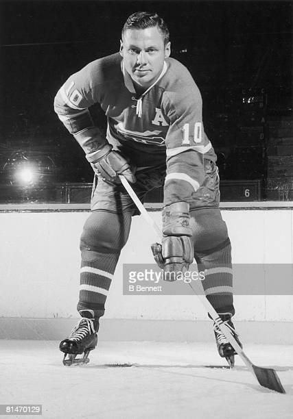 Publicity portrait of Canadian ice hockey player Tom Johnson of the Montreal Canadiens 1950s