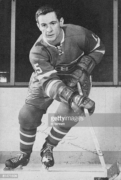 Publicity portrait of Canadian icehockey player Bobby Rousseau of the Montreal Canadiens 1960s