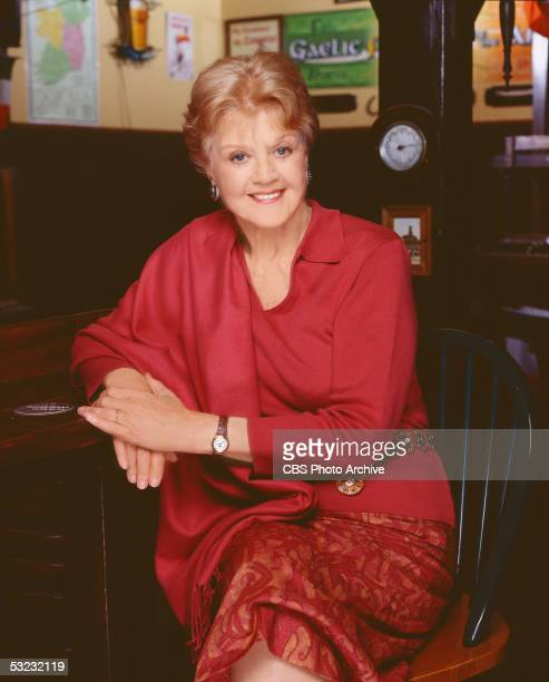Publicity portrait of English actress Angela Lansbury in character as superannuated sleuth Jessica Fletcher in a tv movie based on the CBS detective...