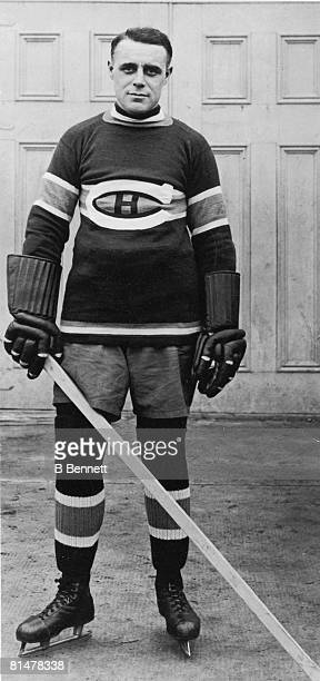 Publicity portrait of ice hockey player Joe Malone of the Montreal Canadiens late 1910s or 1920s