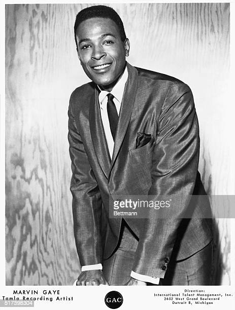 Publicity portrait of Marvin Gaye. Undated photograph.