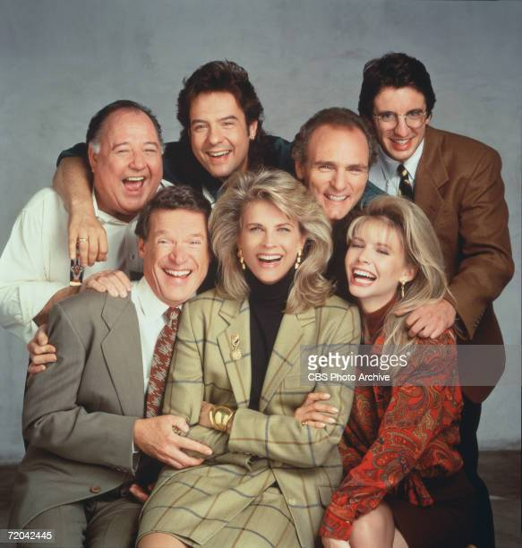 Publicity portrait of the cast of the television series 'Murphy Brown' Los Angeles California early 1990s Pictured are front row from left American...