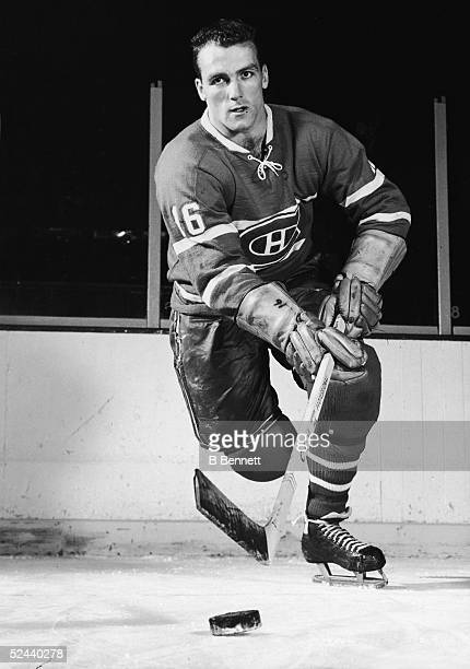 Publicity short of Canadian hockey player Henri Richard of the Montreal Canadiens, 1960s.