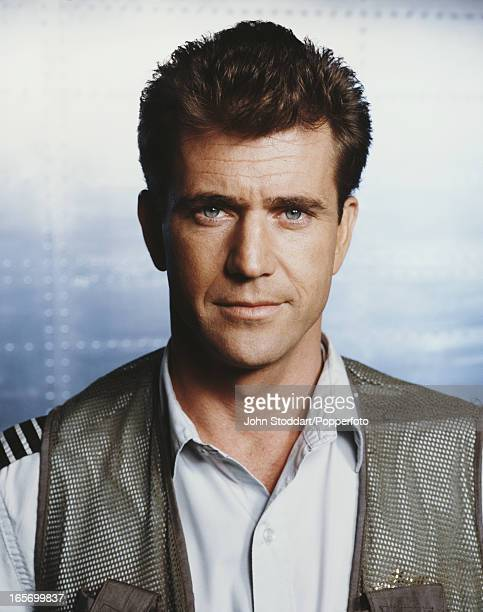 A publicity shot of actor Mel Gibson for the film 'Air America' 1990