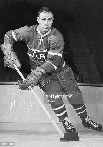 Publicity shot of Canadian hockey player Bob Turner of the Montreal Canadiens late 1950s