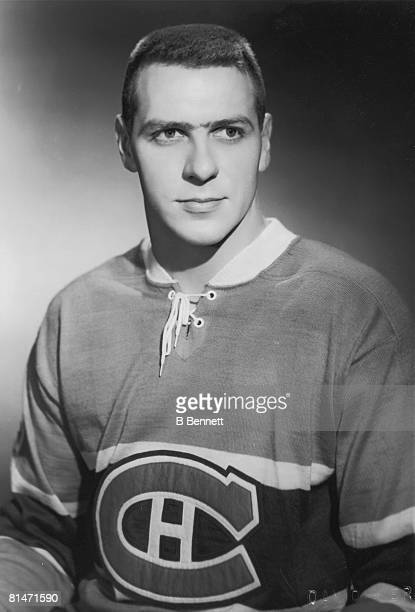 Publicity shot of Canadian hockey player Gilles Tremblay of the Montreal Canadiens 1960s