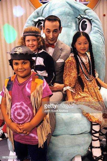 Publicity still from 'Pee Wee's Playhouse' a children's television show starring Paul Reubens Shaun Weiss Natasha Lyonne and Diane Yang 1986