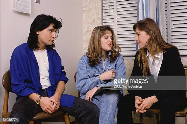 Publicity still from the CBS Schoolbreak Special '15 and Getting Straight ' 1989 This madefortv movie features American actors Corey Feldman Drew...