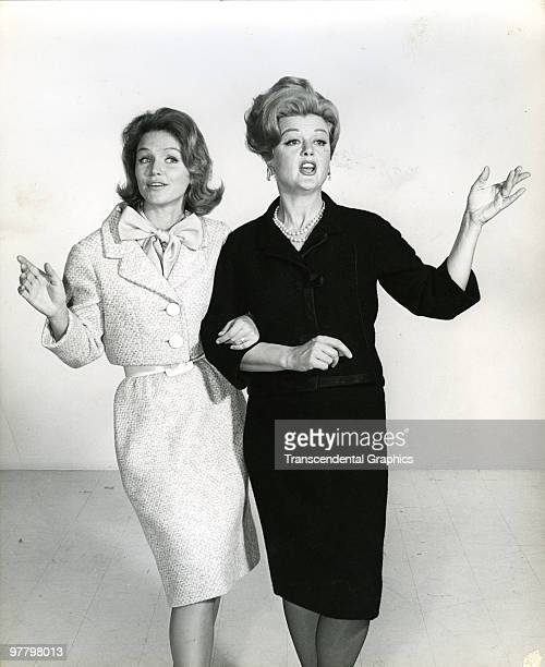 Publicity still of actresses Lee Remick and Angela Lansbury for the Broadway production of 'Anyone Can Whistle' New York New York 1964 Though it...