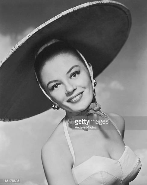 Publicity still of American actress Sheree North for the 1956 film 'The Lieutenant Wore Skirts'