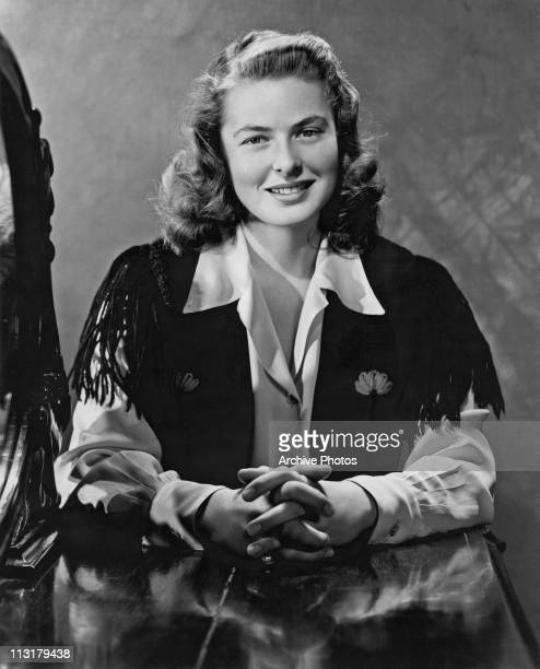 Publicity still of Swedish actress Ingrid Bergman who is to appear in RKO Radio's 'After the Storm' in 1945