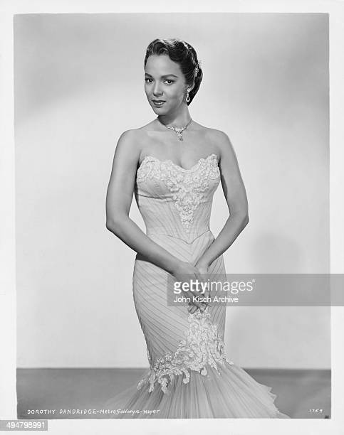 Publicity still portrait of American actress and singer Dorothy Dandridge MGM 1954