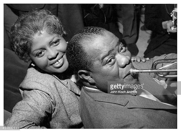 Publicity still portrait of American jazz musician Louis Armstrong and his wife Lucille, 1960.