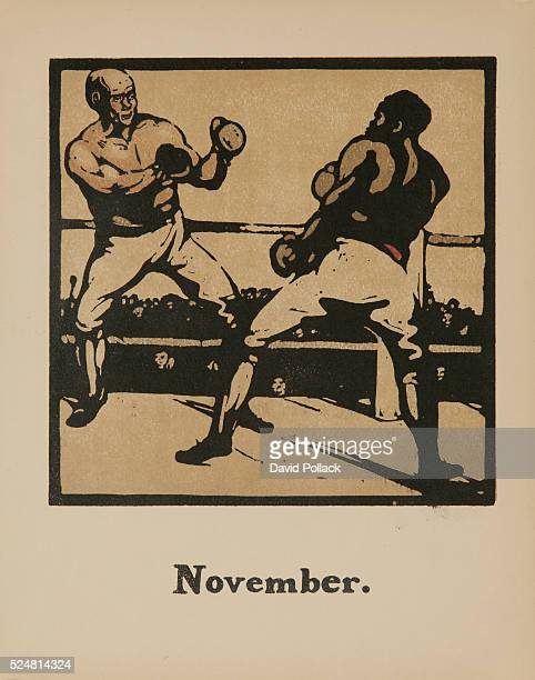 1898 published by R H Russell New York boxers square off in ring